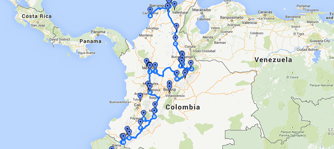 Colombia Route